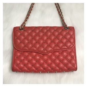 Rebecca Minkoff LARGE Studded Quilted Affair Coral